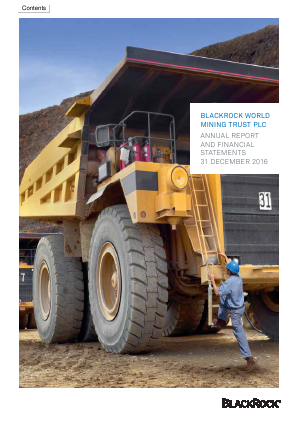 Blackrock World Mining Trust Plc annual report 2016