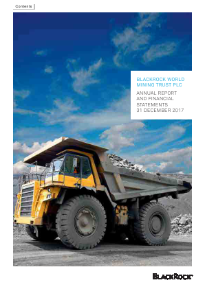 Blackrock World Mining Trust Plc annual report 2017