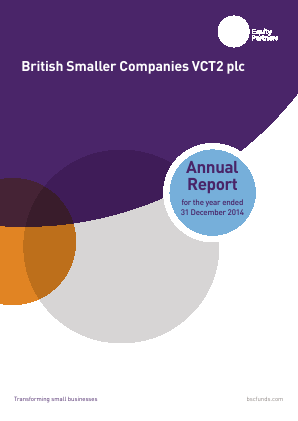 British Smaller Companies VCT2 Plc annual report 2014