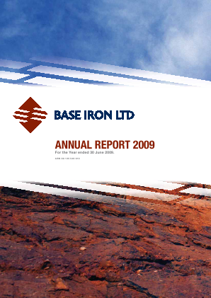 Base Resources annual report 2009
