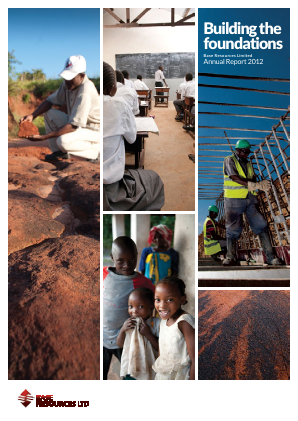 Base Resources Ltd annual report 2012