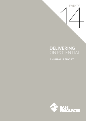 Base Resources annual report 2014