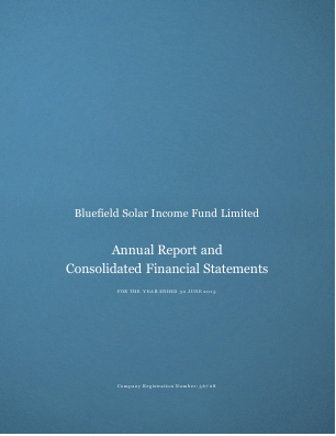 Bluefield Solar Income Fund annual report 2015