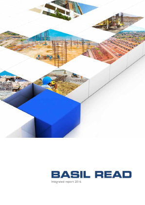 Basil Read Holdings annual report 2016