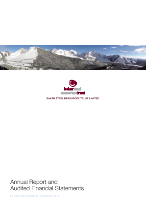 Baker Steel Resources Trust annual report 2014