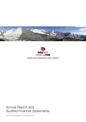 Baker Steel Resources Trust annual report 2015