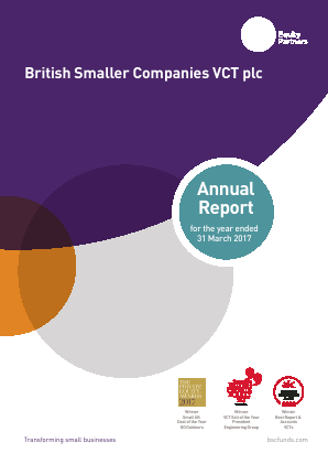 British Smaller Companies VCT annual report 2017