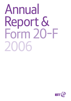 BT Group annual report 2006