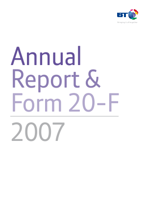 BT Group annual report 2007