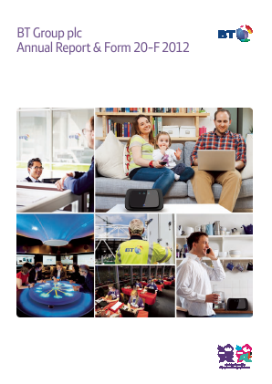BT Group annual report 2012