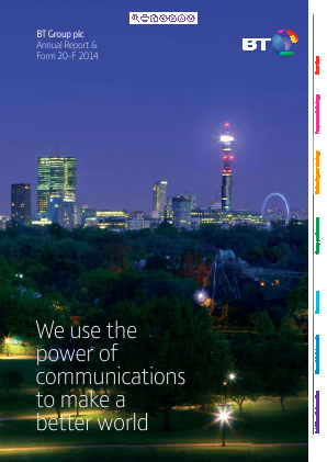 BT Group annual report 2014