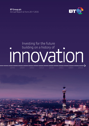 BT Group annual report 2015