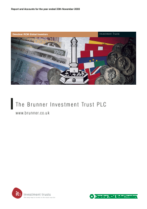 Brunner Investment Trust annual report 2000