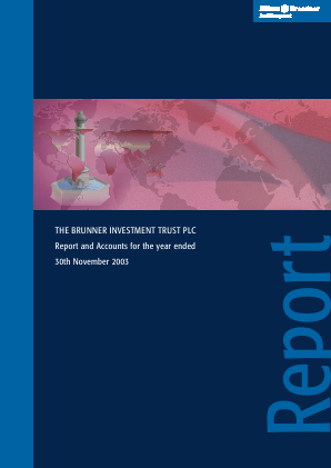Brunner Investment Trust annual report 2003