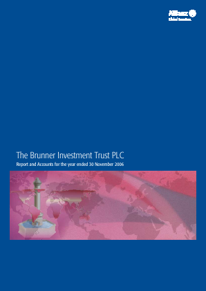 Brunner Investment Trust annual report 2006