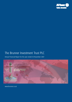 Brunner Investment Trust annual report 2007