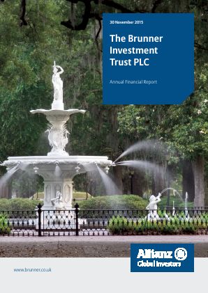 Brunner Investment Trust annual report 2015