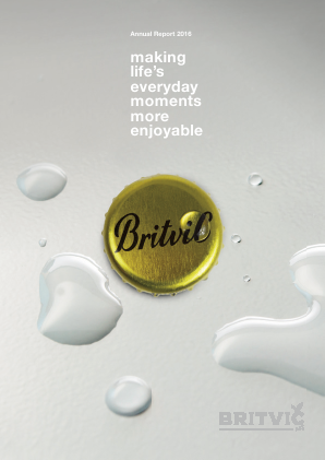 Britvic annual report 2016