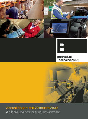 Touchstar (previously Belgravium Technologies) annual report 2009