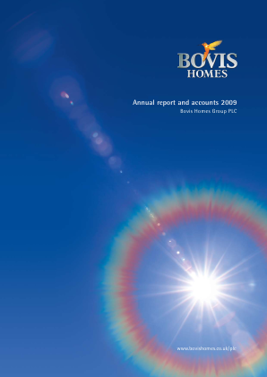 Bovis Homes Group annual report 2009