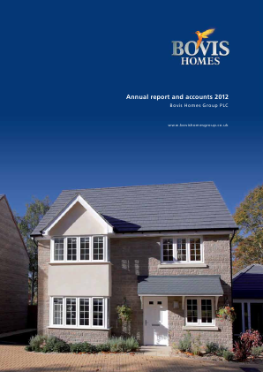 Bovis Homes Group annual report 2012