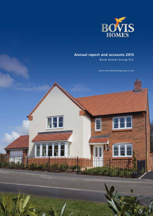 Bovis Homes Group annual report 2013