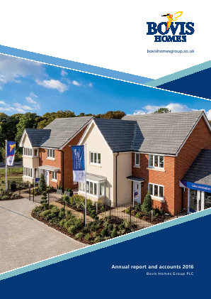 Bovis Homes Group annual report 2016
