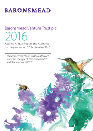 Baronsmead Venture Trust (Previously VCT 2) annual report 2016