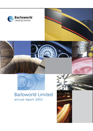 Barloworld annual report 2002