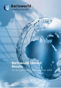 Barloworld annual report 2009