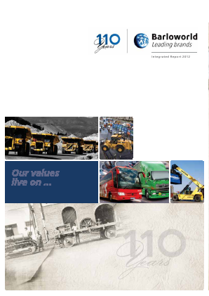 Barloworld annual report 2012