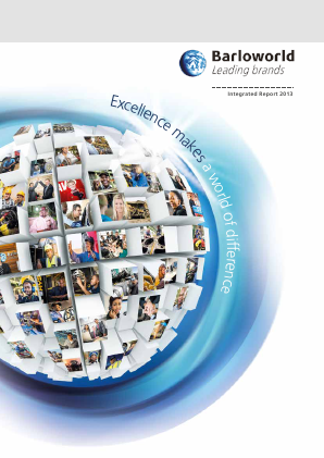 Barloworld annual report 2013