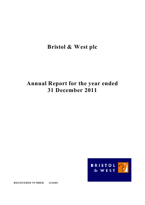 Bristol & West Plc annual report 2011