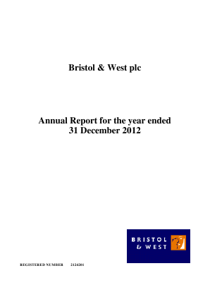 Bristol & West Plc annual report 2012