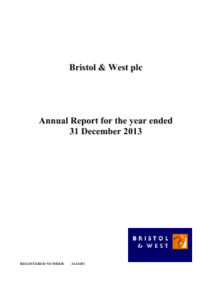 Bristol & West Plc annual report 2013
