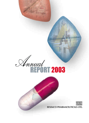 Beximco Pharmaceuticals annual report 2003
