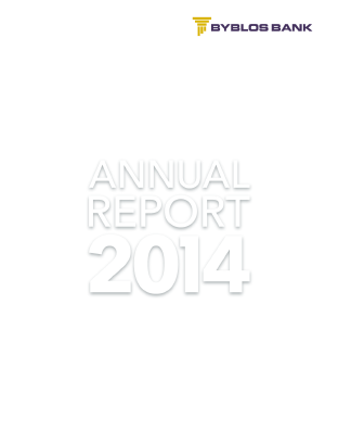 Byblos Bank annual report 2014