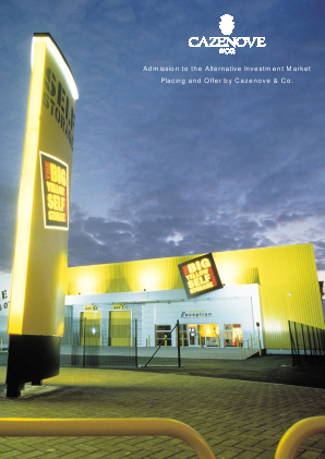 Big Yellow Group annual report 2000