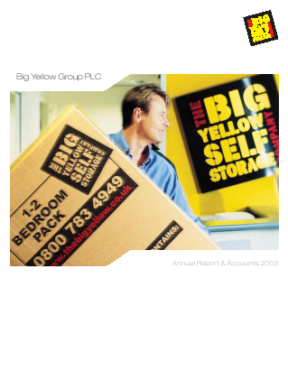 Big Yellow Group annual report 2003