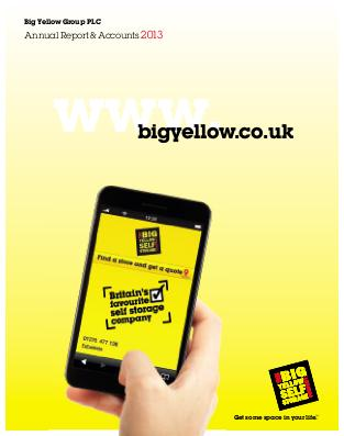 Big Yellow Group annual report 2013