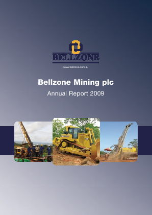 Bellzone Mining Plc annual report 2009