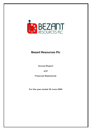 Bezant Resources Plc annual report 2009