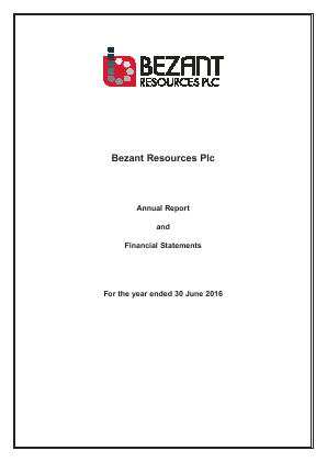 Bezant Resources Plc annual report 2016