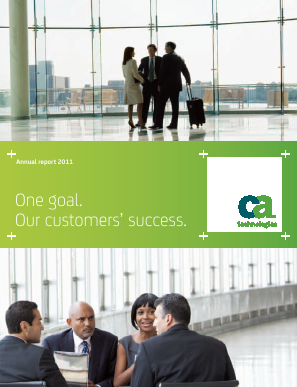 CA, Inc. annual report 2011