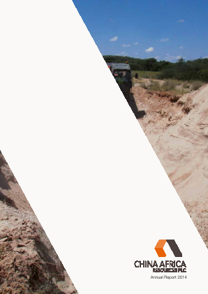 Pembridge Resources (previously China Africa Resources) annual report 2014