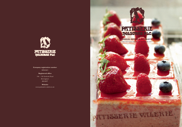 Patisserie Holdings Plc annual report 2017