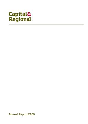 Capital & Regional annual report 2009