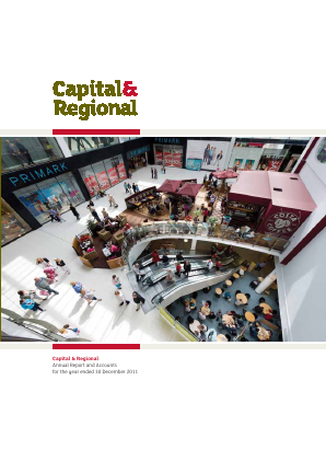 Capital & Regional annual report 2011