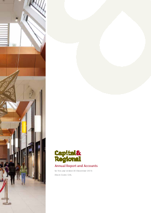 Capital & Regional annual report 2015