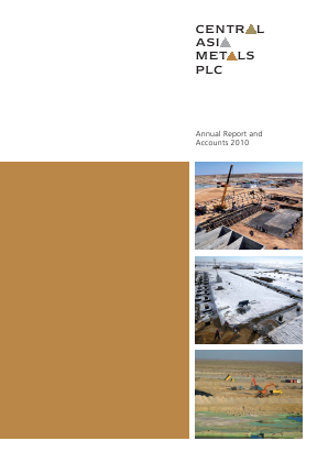Central Asia Metals Plc annual report 2010